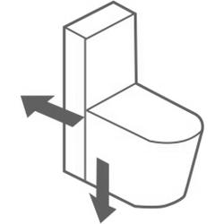 Тоалетна с универсално оттичане