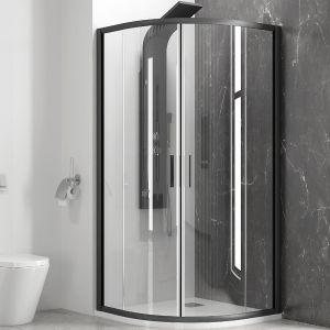 KARAG EFE 200 NERO 80х80 овална душ-кабина за баня с черен обков