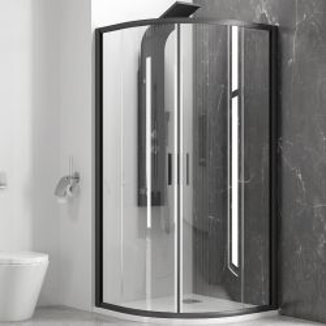 KARAG EFE 200 NERO 90х90 овална душ-кабина за баня с черен обков