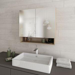 Горен шкаф-огледало за баня Aby