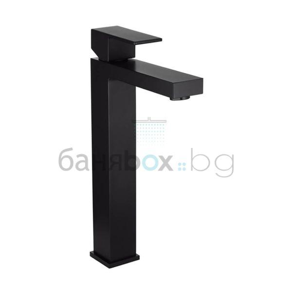 Черен смесител за мивка Ergo-Q висок