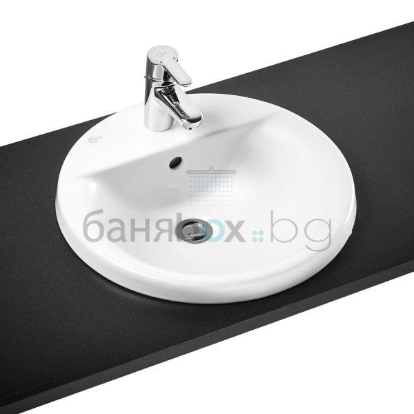 Мивка за баня Connect кръгла с отвор