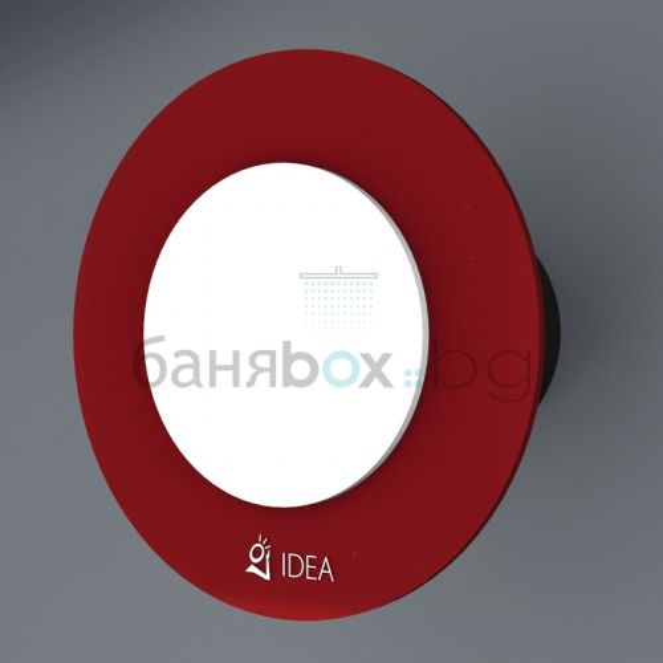 Вентилатор за баня Idea Double червено и бяло