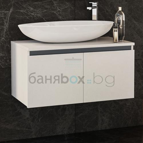 Шкаф за баня Omnia 80 с вратички