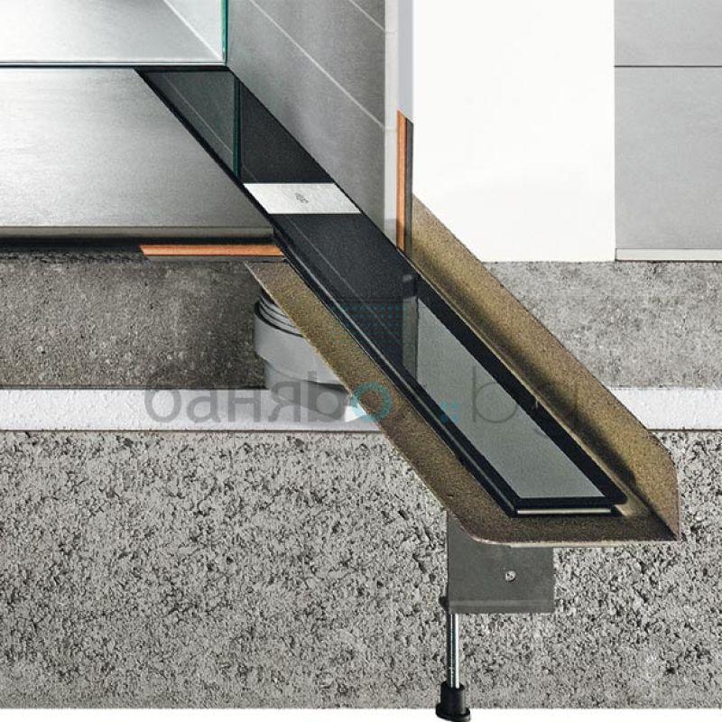 Linear Bathroom Drain Advantix Basic Wall - Linear bathroom drains