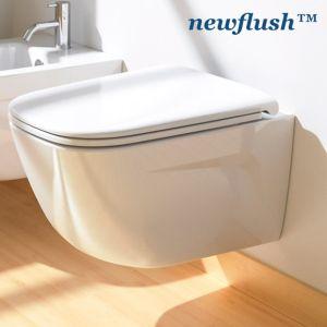 Окачена тоалетна New Light Newflush с капак