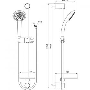 VIDIMA FRESH M3 ръчен душ с тръбно окачване