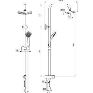 IDEAL STANDARD CERATHERM+VIDIMA BALANCE ПРОМО душ-комплект с термостат