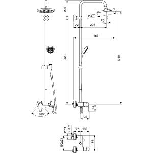 VIDIMA SEVA L душ система с едноръкохватков смесител