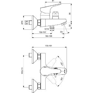 VIDIMA SEVA NEXT смесител за душ/вана ръчен превключвател