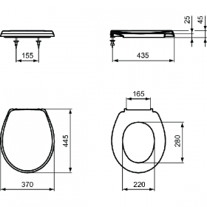 VIDIMA седалка за тоалетна