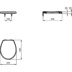 VIDIMA седалка за тоалетна с плавно затваряне