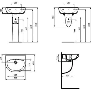 VIDIMA ULYSSE-STYLE 50 мивка за баня