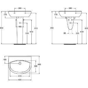 VIDIMA ULYSSE STYLE 55 мивка за баня