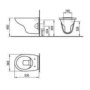FAYANS NEO конзолна тоалетна, без ринг