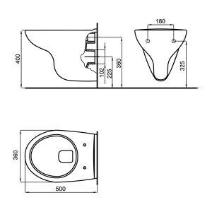 FAYANS MIRA конзолна тоалетна