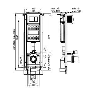 FAYANS NEO B-RIMLESS ECO COMPACT ПРОМО комплект конзолна тоалетна без ринг и казанче за вграждане