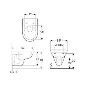 GEBERIT DUOFIX DELTA 20 бял SELNOVA ПРОМО комплект конзолна тоалетна и казанче за вграждане