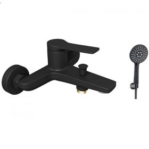 KARAG ANDARE NERO черен комплект с ръчен душ