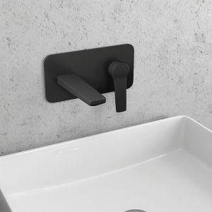 KARAG ANDARE NERO черен, стенен смесител за мивка