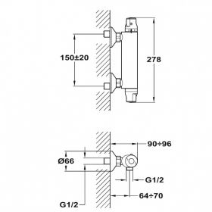TEKA INCA PRO термостатен смесител за душ
