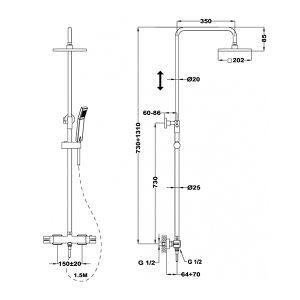 TEKA SOLER душ-система