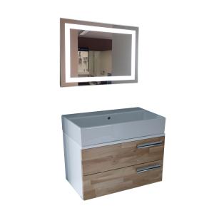 Дървен шкаф за баня Domo