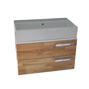 Дървен шкаф за баня Domo дъб