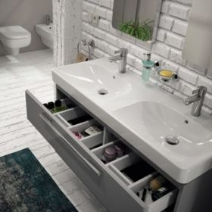 Двойна мивка за баня Traffic  120 см
