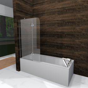 Bathtube Glass Screen DuoBox Lux
