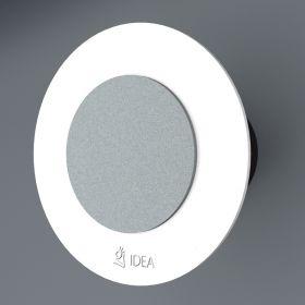 Вентилатор за баня Idea Double основа бял кръг