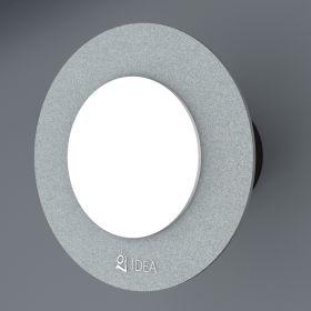 Вентилатор за баня Idea Double основа сив кръг