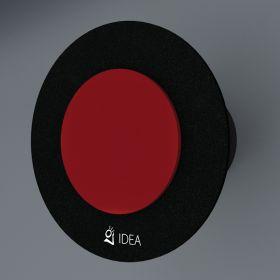 Вентилатор за баня Idea Double основа черен кръг