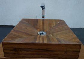 Дървена мивка за баня Ricco